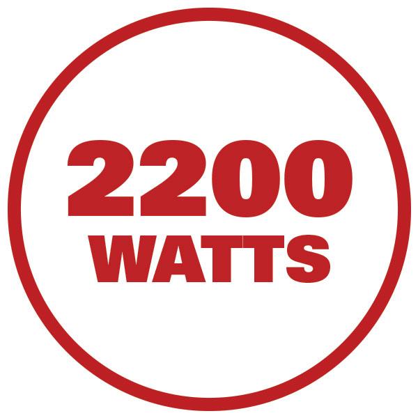 2200 watts