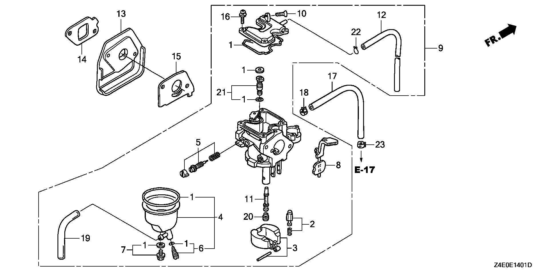CARBURETOR (RAMMER FLOAT)