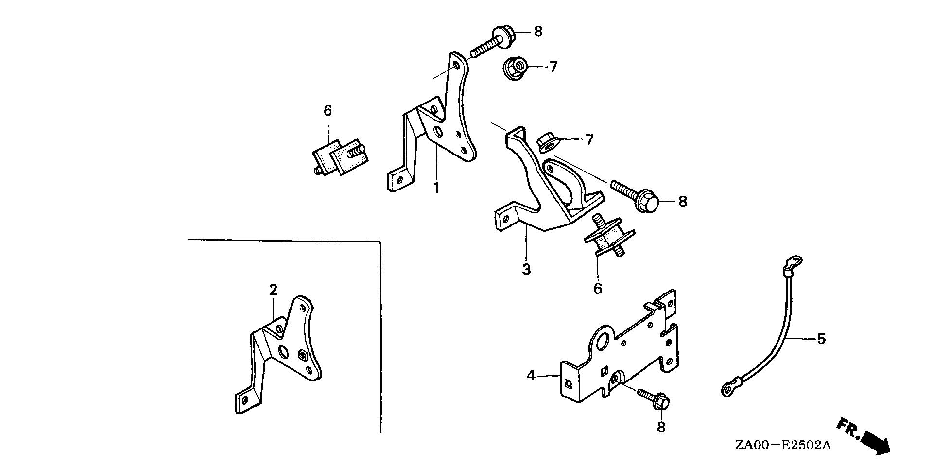 ENGINE MOUNTING STAY (3)