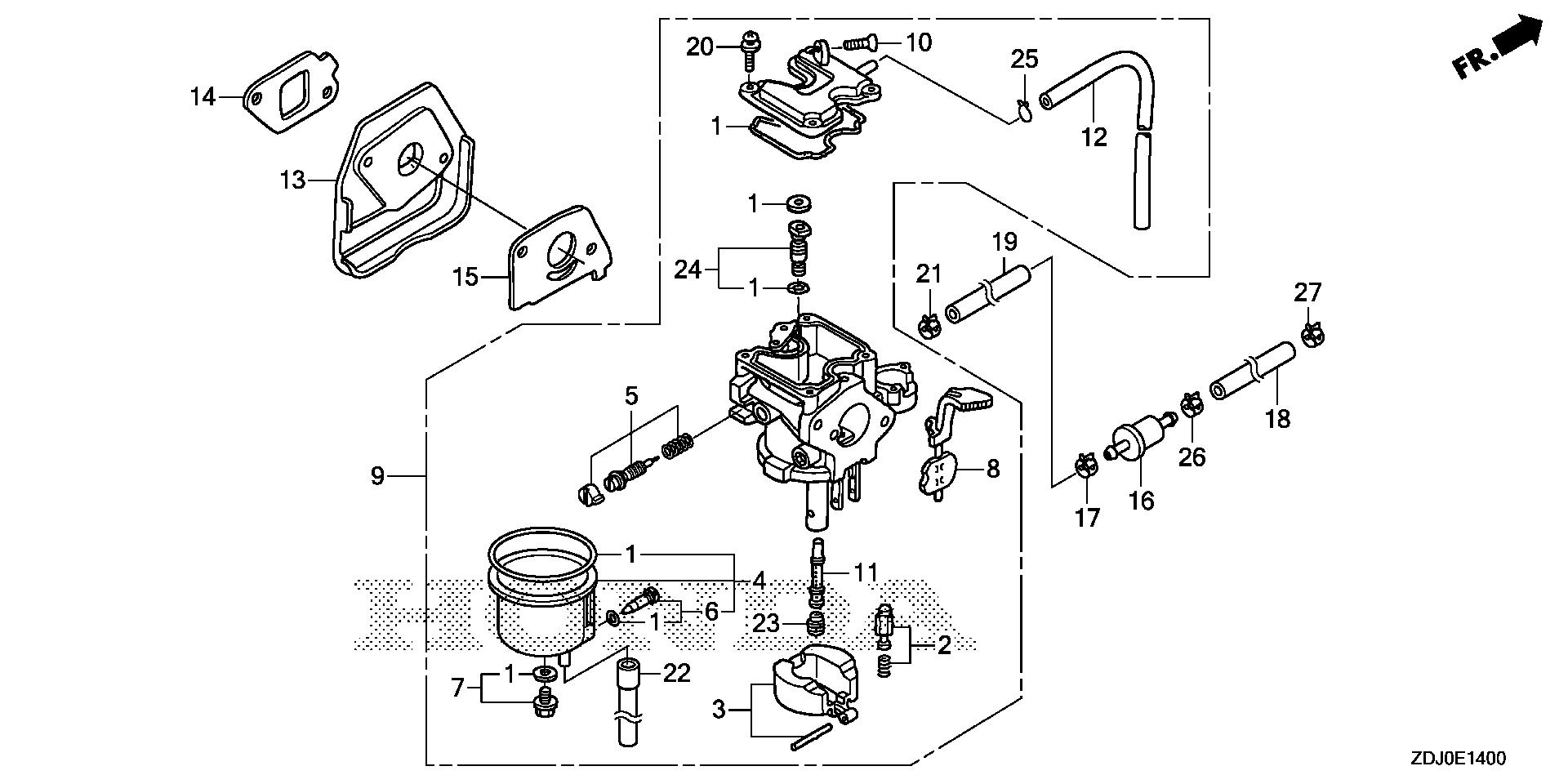 CARBURETOR (1) (RAMMER   FLOAT)