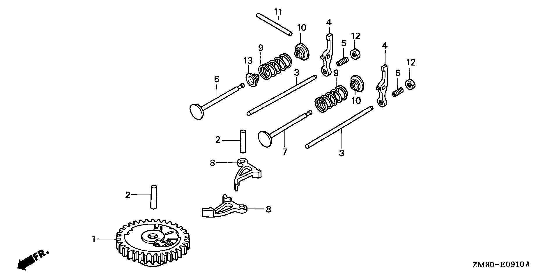 CAMSHAFT (VERTICAL TYPE)