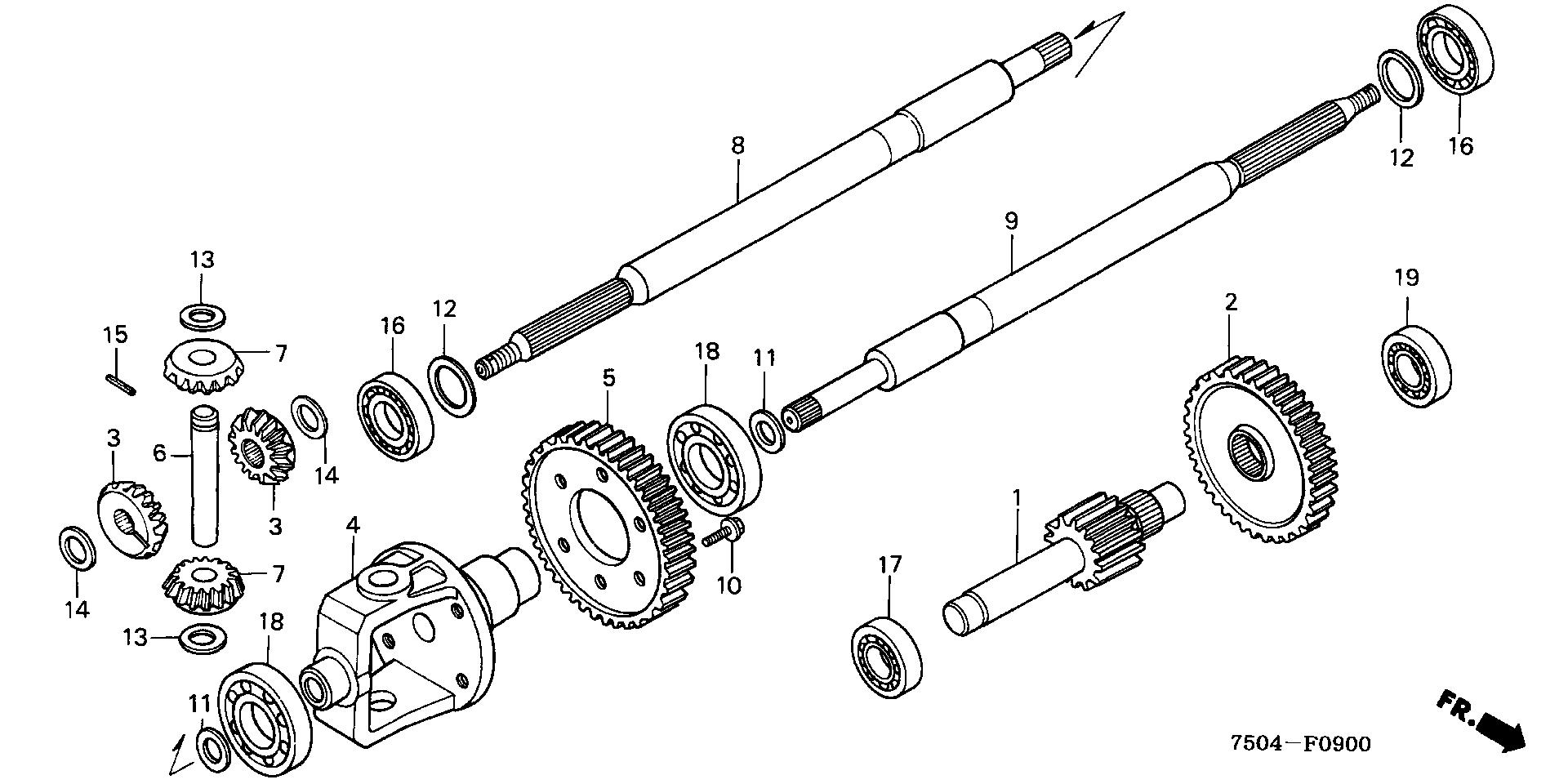 COUNTERSHAFT@DIFFERENTIAL GEAR