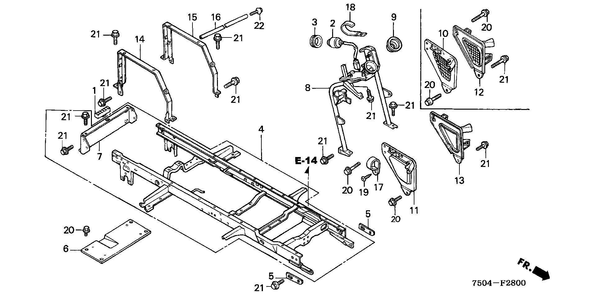 FRAME@STEERING COLUMN