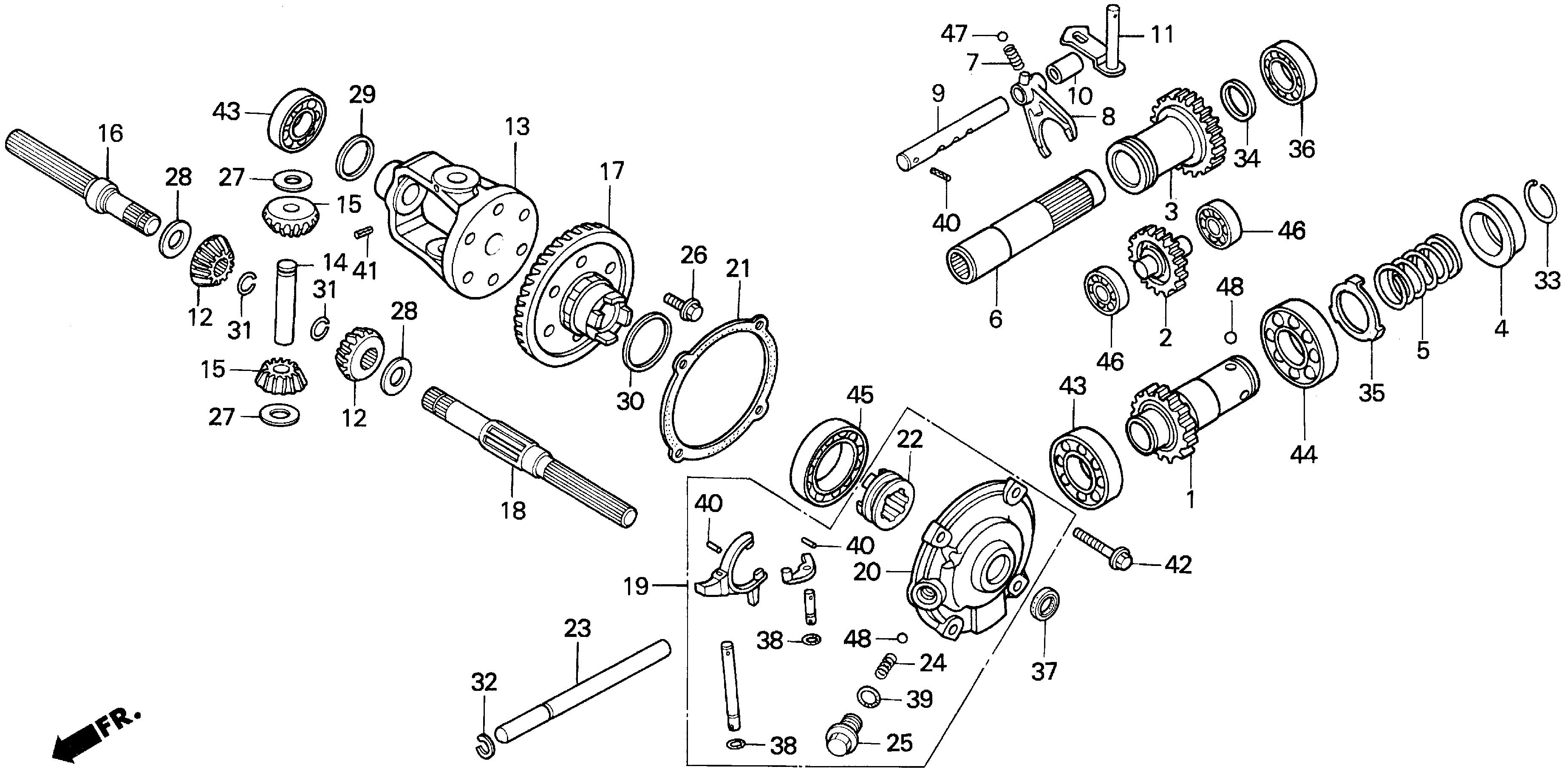 REAR DIFFERENTIAL GEAR