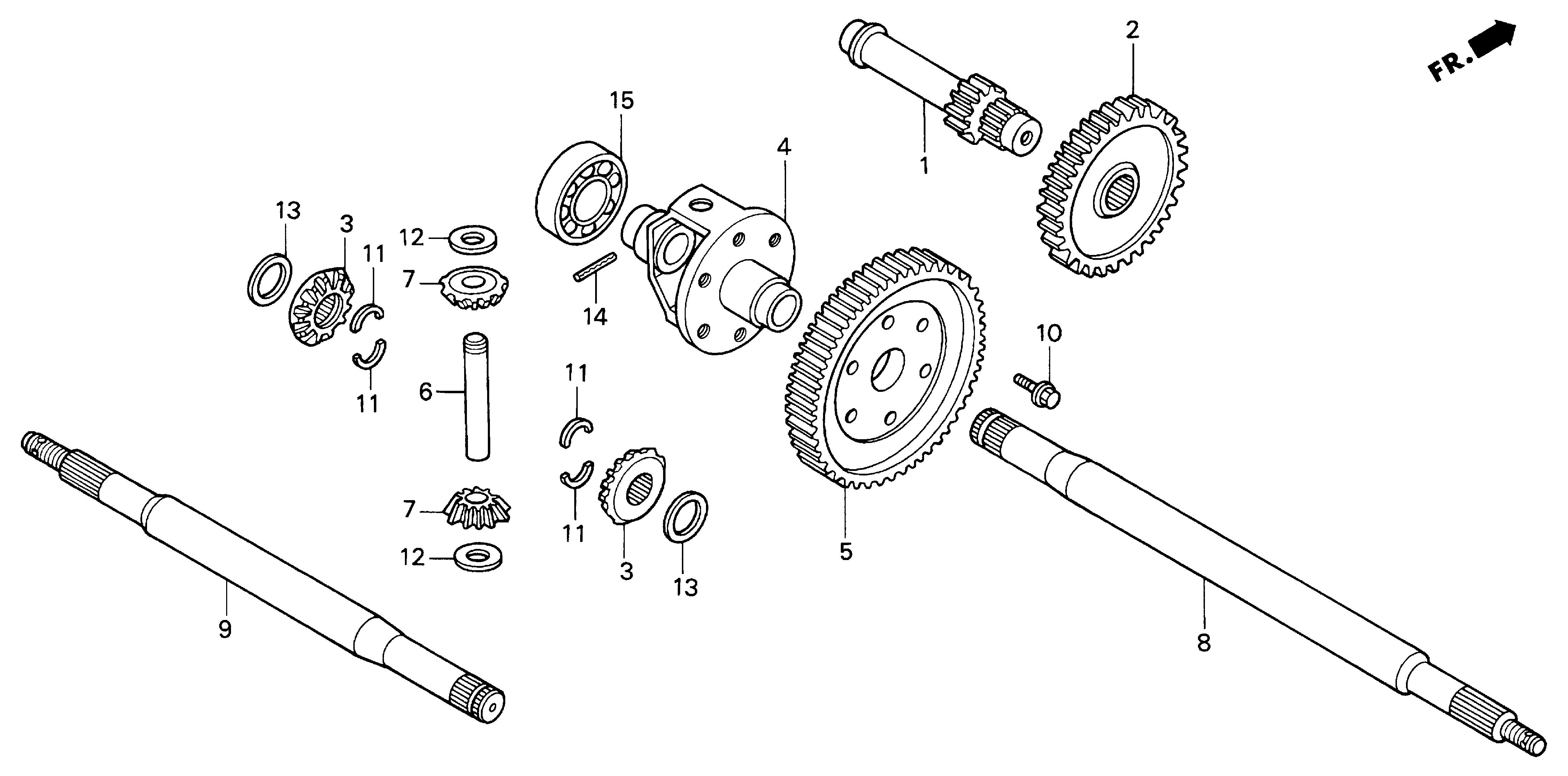 DIFFERENTIAL GEAR        (H4514H, H4518H)