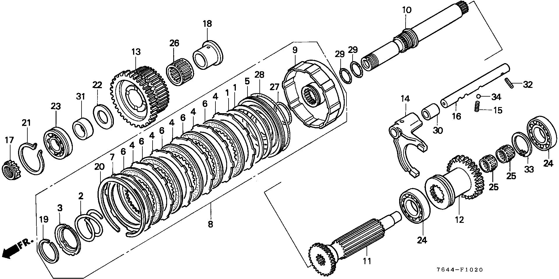 P.T.O. COUNTERSHAFT