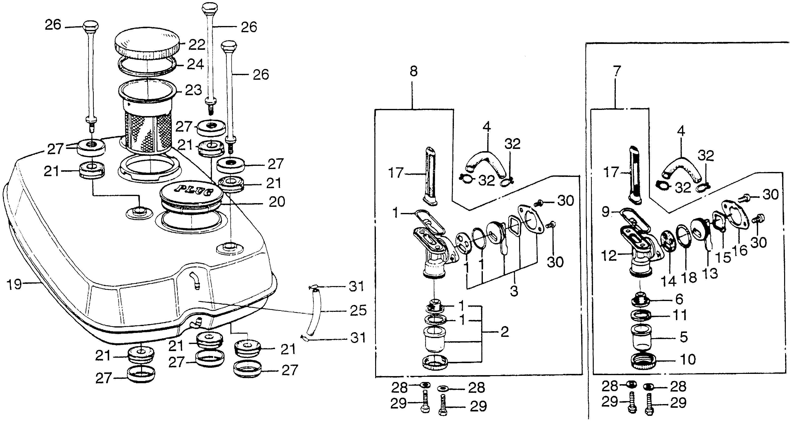 G65/GS65LOWER CRANKCASE@FUEL     VALVE