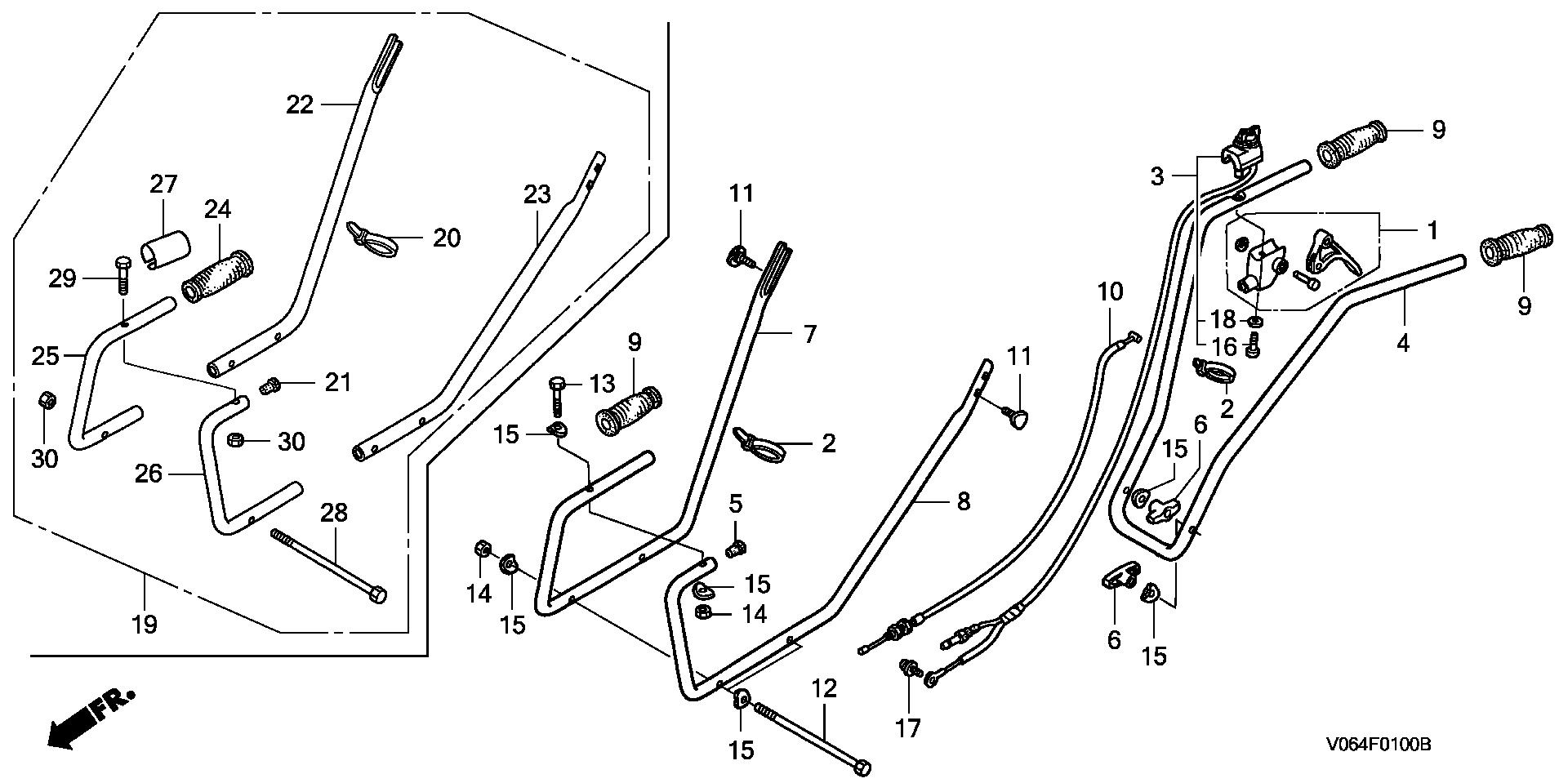 HANDLEBAR@THROTTLE LEVER (-6081151)