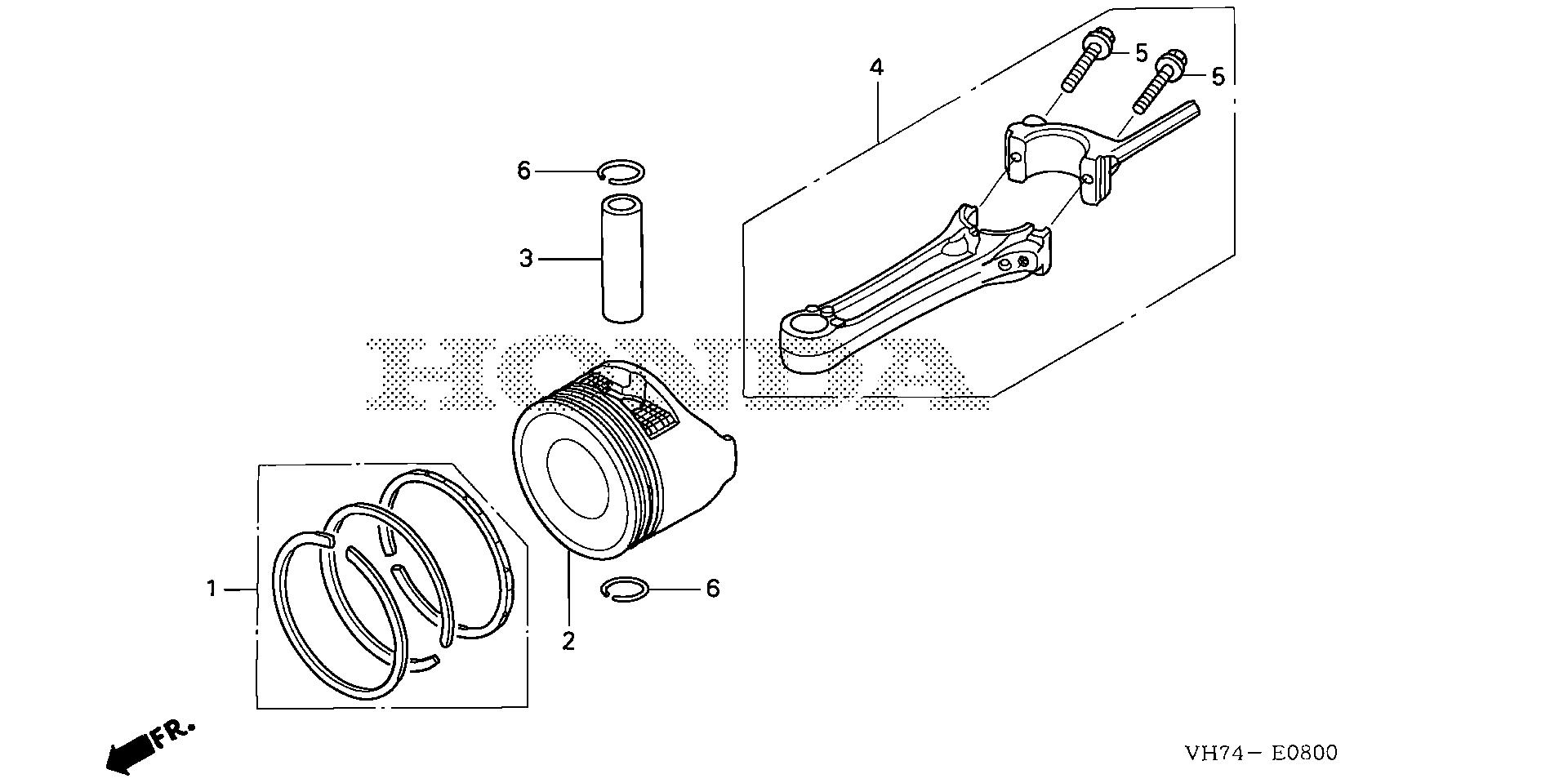 PISTON@CONNECTING ROD    (HRX217/K1/K2/K3/K4/K5)