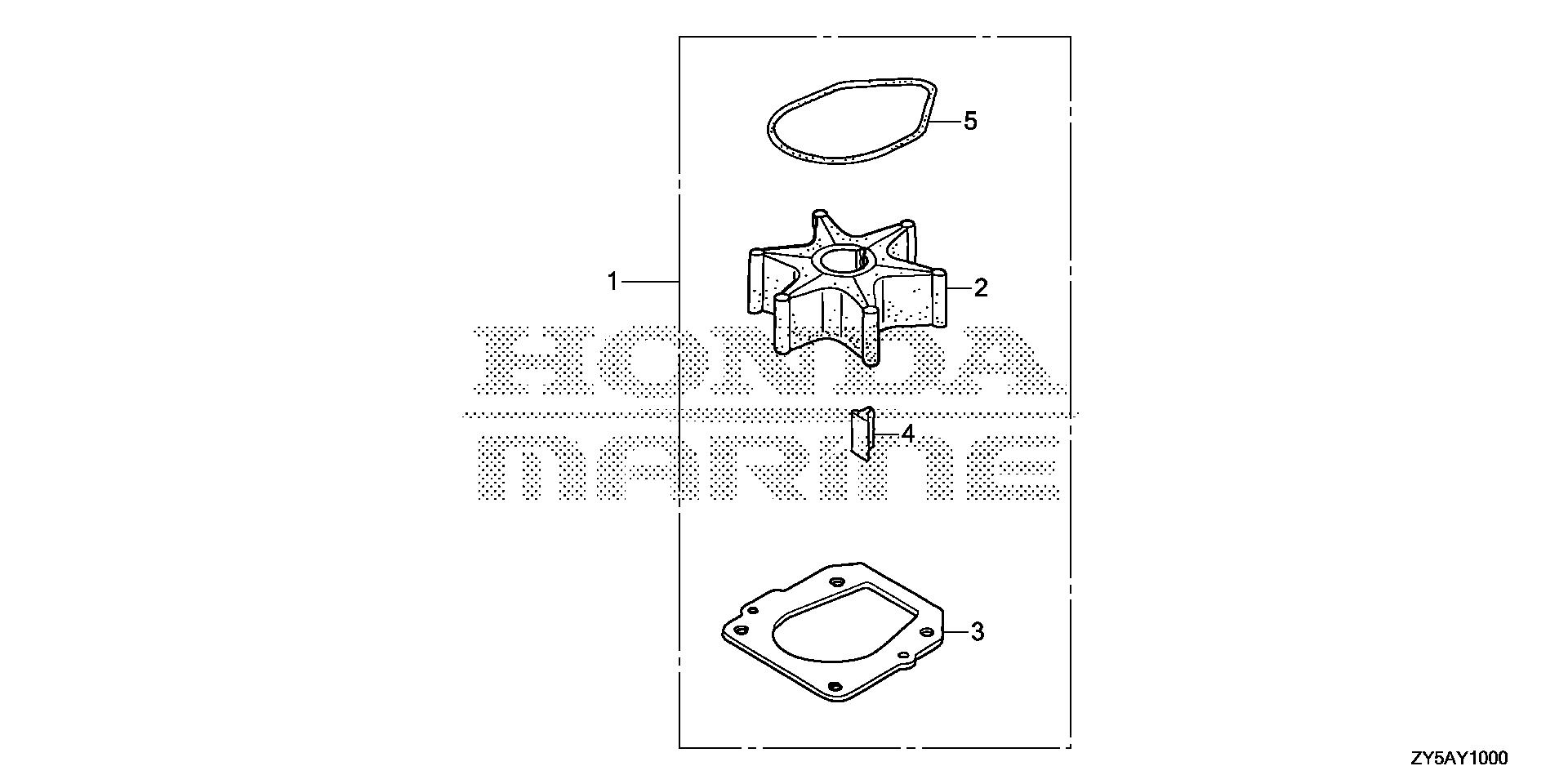 WATER PUMP IMPELLER KIT  (1)