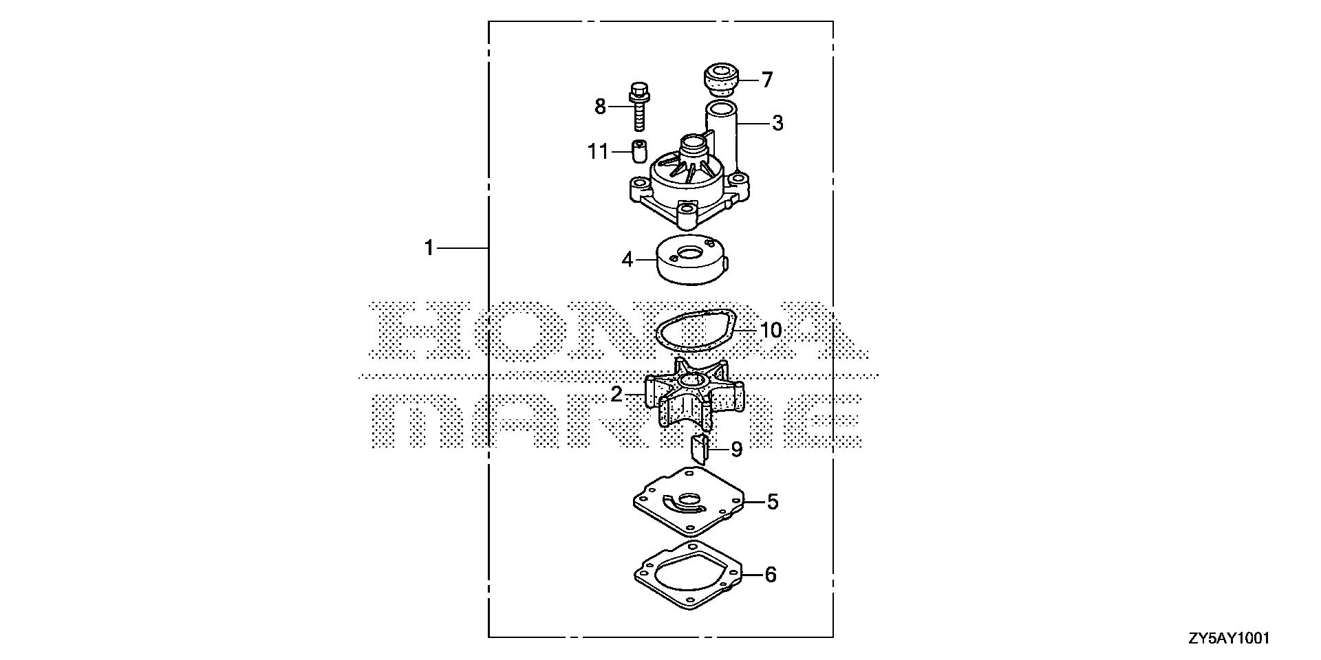 WATER PUMP IMPELLER KIT  (2)