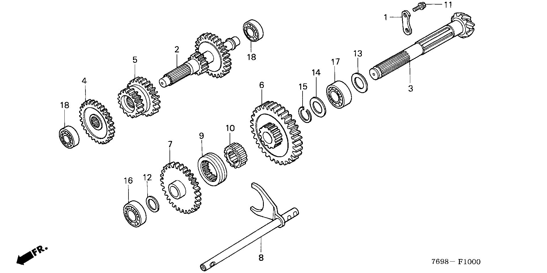 2WD     LOWER COUNTERSHAFT