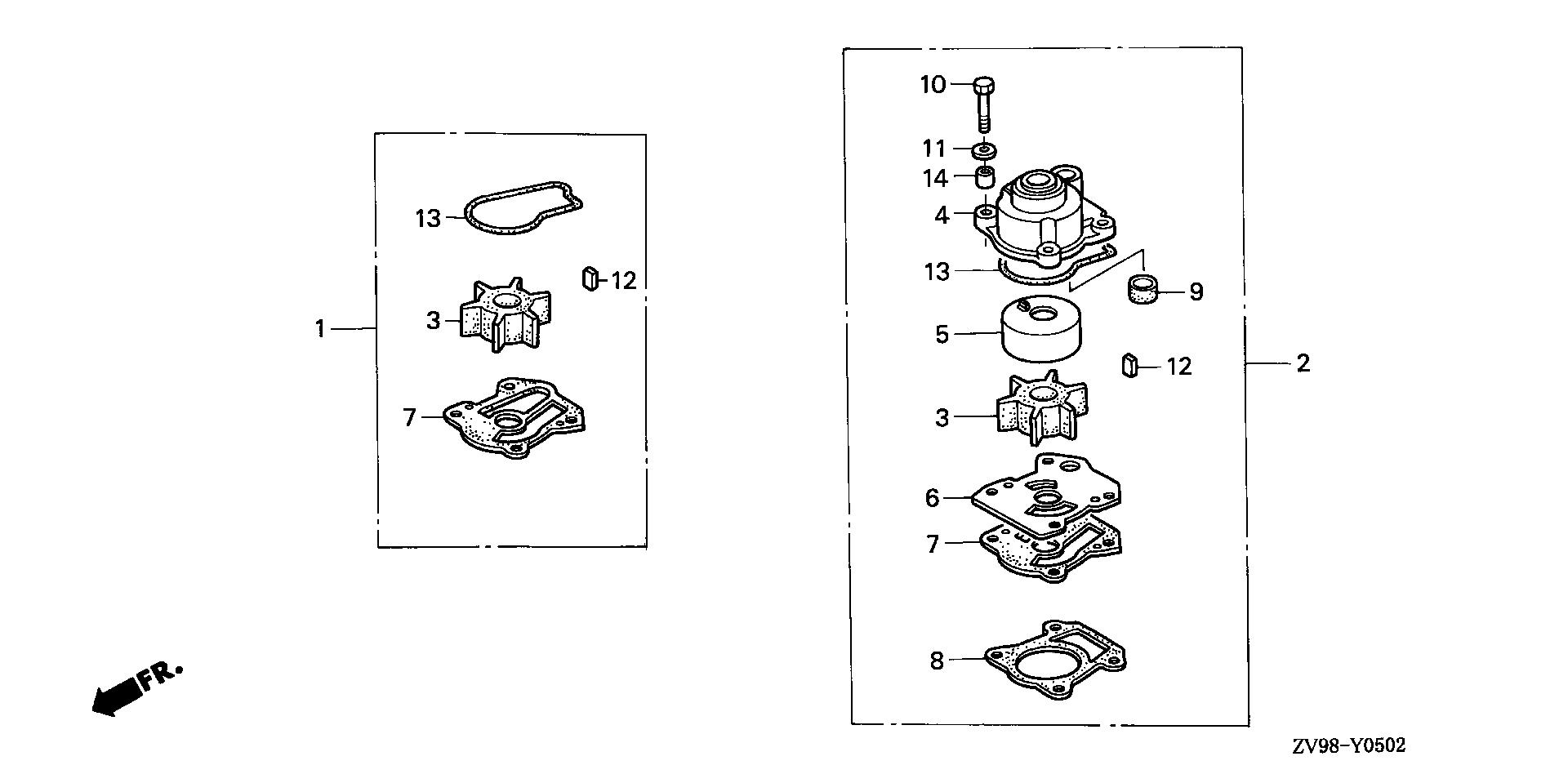 IMPELLER PUMP KIT (2)