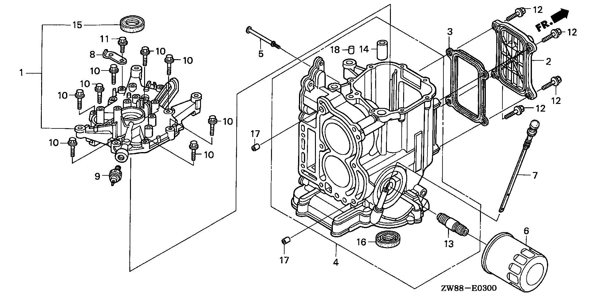 CYLINDER BLOCK@CRANKCASE COVER