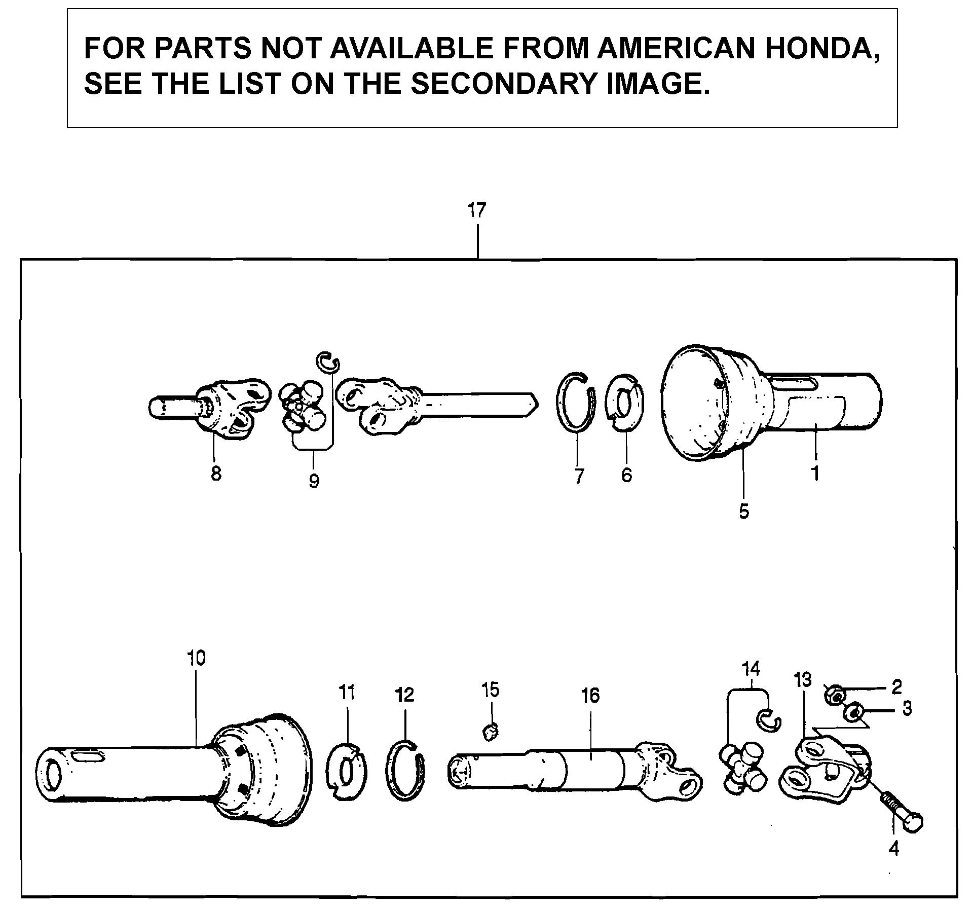 DRIVESHAFT ASSEMBLY      (TL752A)