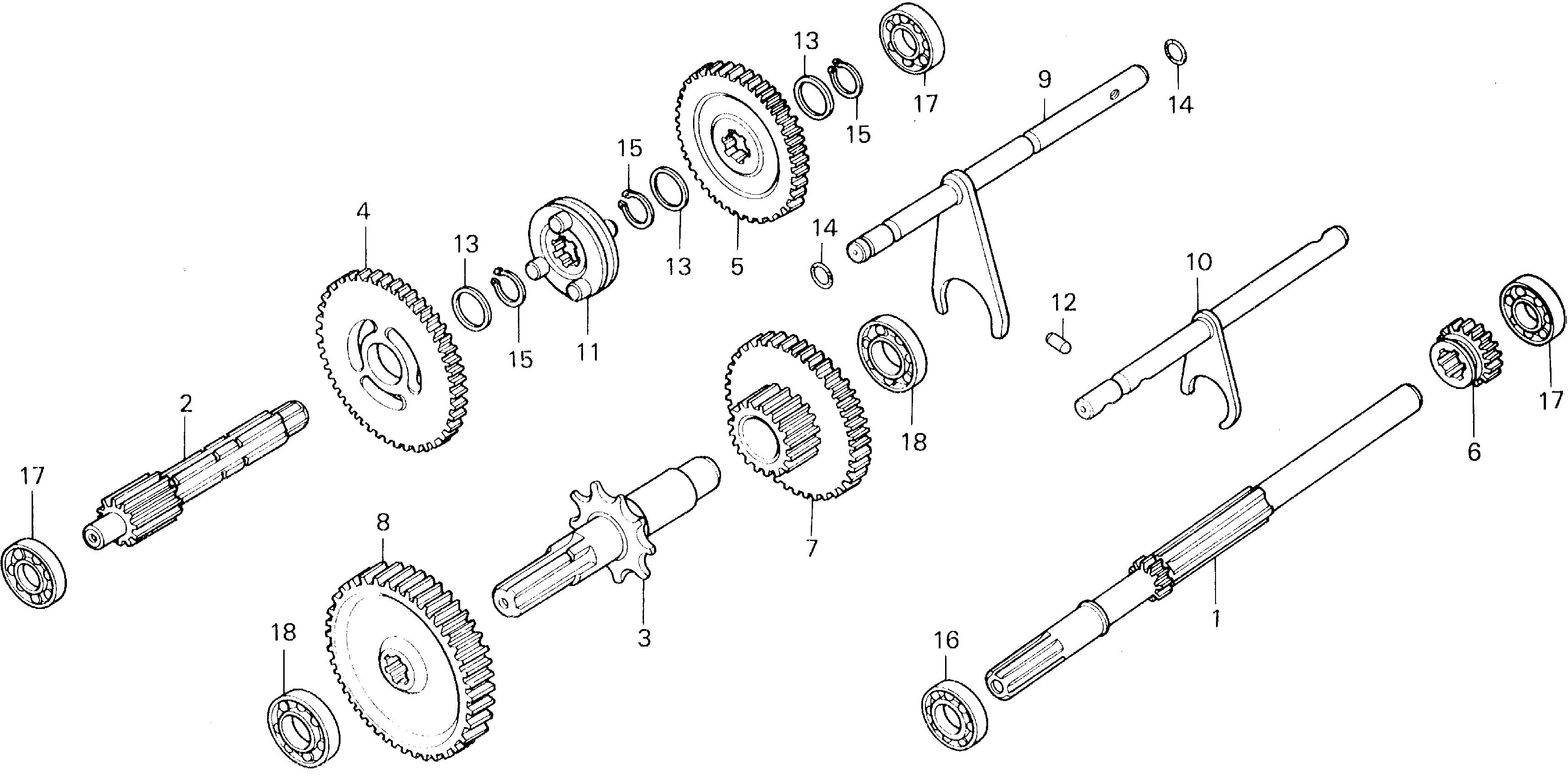 TRANSMISSION GEAR        (TYPEA2)